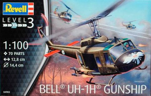 Вертолет Bell UH-1H Gunship ( 12,8 см ) Revell 04983