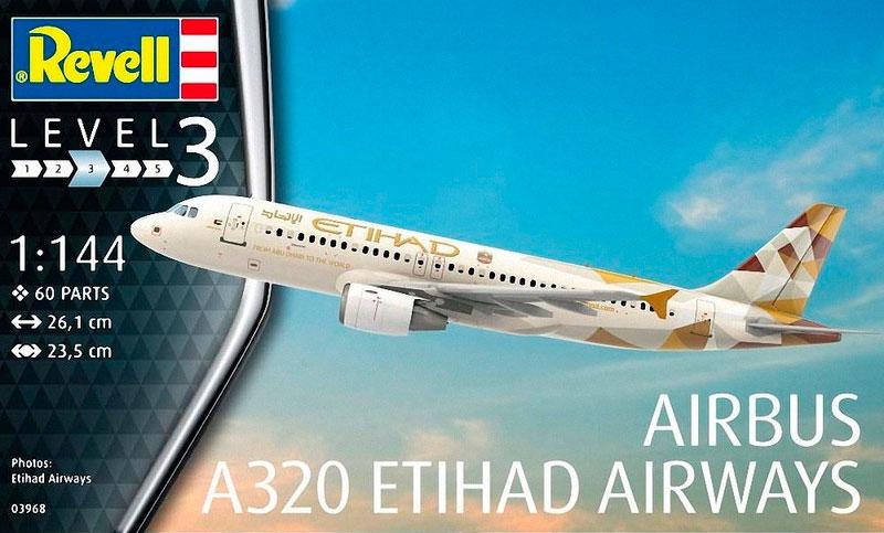 Самолет Airbus A320 Etihad Revell 03968