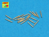 Set of 20 pcs 0,5in (12,7mm) Vickers Mk.III machine gun barrels for Royal Navy ships