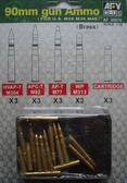 90 мм снаряды-боеприпасы для M26,M36,M46 (Латунь)