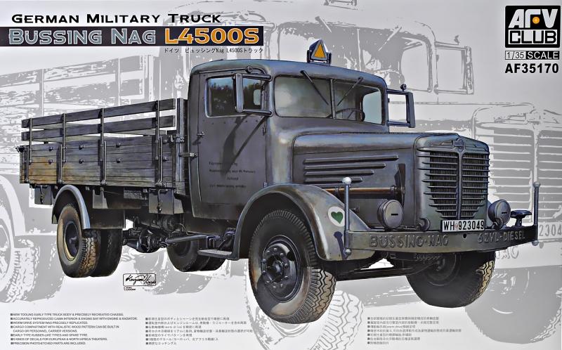 Военный грузовик Bussing NAG L4500S Afv-Club 35170