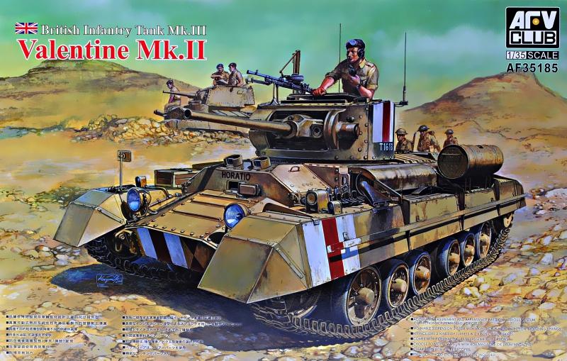 Британский пехотный танк Valentine Mk. II Afv-Club 35185