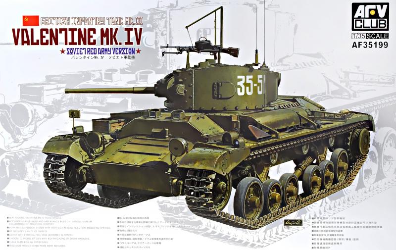 Британский пехотный танк Valentine Mk. IV Afv-Club 35199