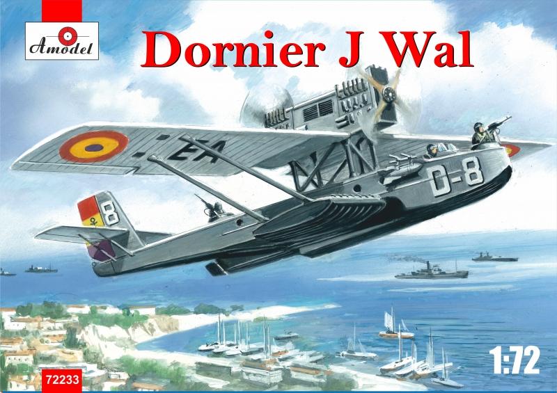 Немецкая летающая лодка Dornier J Wal, война в Испании Amodel 72233