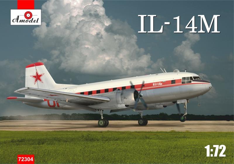 Пассажирский самолет Ил-14М Amodel 72304