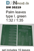 Пальмовые листья: Зеленые, набор №1