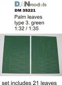 Пальмовые листья: Зеленые, набор №3