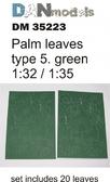 Пальмовые листья: Зеленые, набор №5