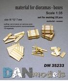 Материал для диорам, набор для изготовления 10 деревянных ящиков