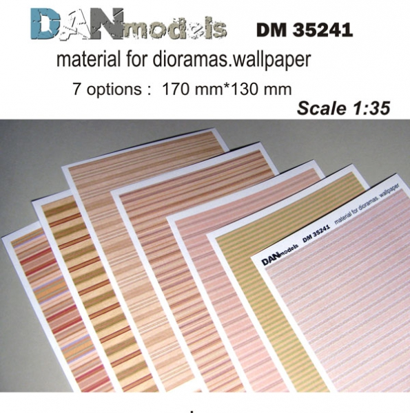 Материал для диорам, обои (7 видов), часть 1 DAN models 35241