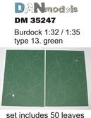 Листья лопуха: Зеленые, набор №12