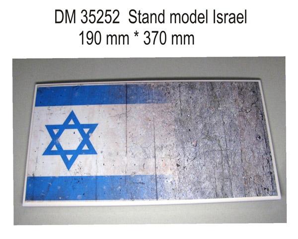 Подставка для моделей бронетехники. Тема: Израиль (370x190 мм) DAN models 35252