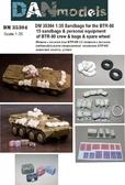 Мешки с песком для БТР-80 (личные вещи экипажа, 15 мешков, сумки, запасное колесо-резина)