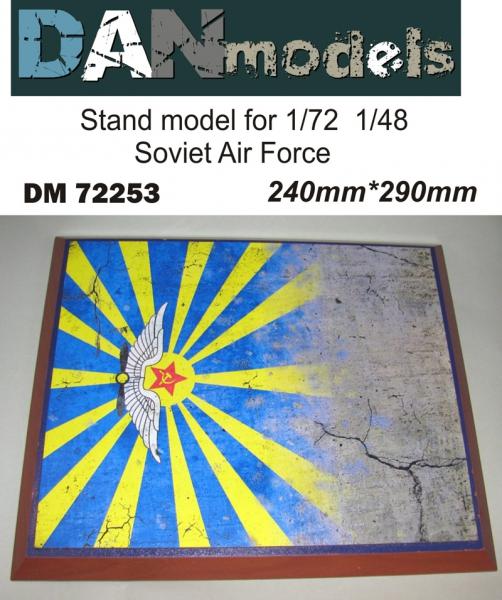 Подставка для моделей авиации. Тема: ВВС СССР (290x240 мм) DAN models 72253