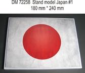 Подставка для моделей авиации. Тема: Япония, вариант №1 (240x180 мм)