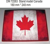 Подставка для моделей авиации. Тема: Канада (240x180 мм)