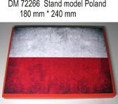 Подставка для моделей авиации. Тема: Польша (240x180 мм)