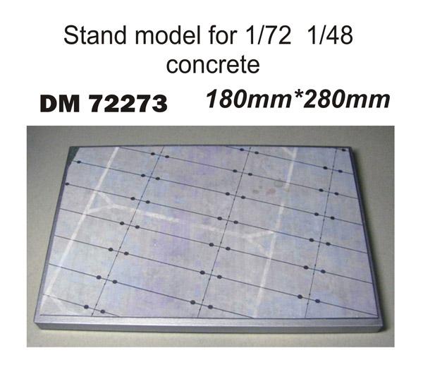 Подставка для моделей авиации. Тема: Стоянка самолета, бетонка (180x280 мм) DAN models 72273