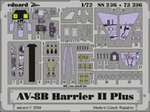 Фототравление 1/72 AV-8B Харриер II+ (цветная, рекомендовано для Hasegawa)