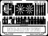 Фототравление 1/72 Mиг-21ПФ/ПФМ (рекомендовано для Bilek)