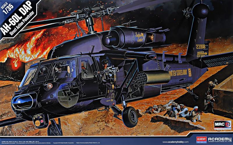 Вертолет AH-60L ''DAP Black Hawk'' Academy 12115