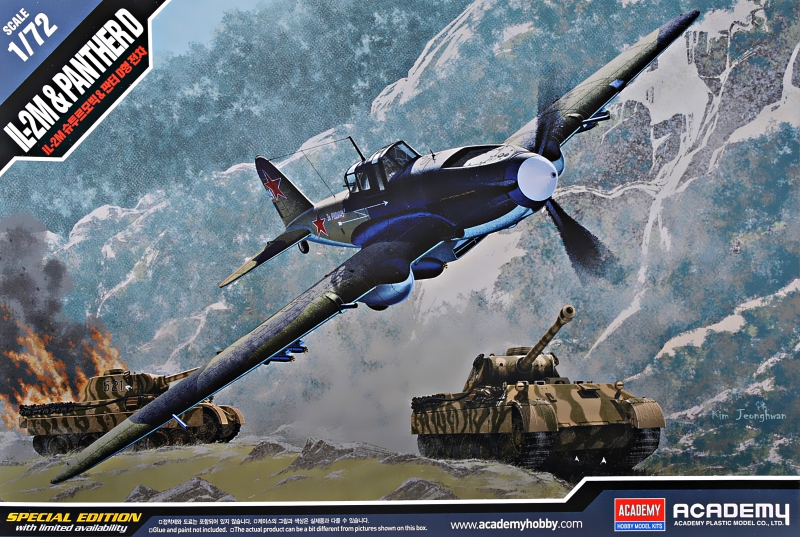 Штурмовик Ил-2М и танк ''Panther D'' Academy 12538