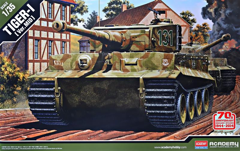 Немецкий танк Tiger I, средина производства, 1944 г. Academy 13287
