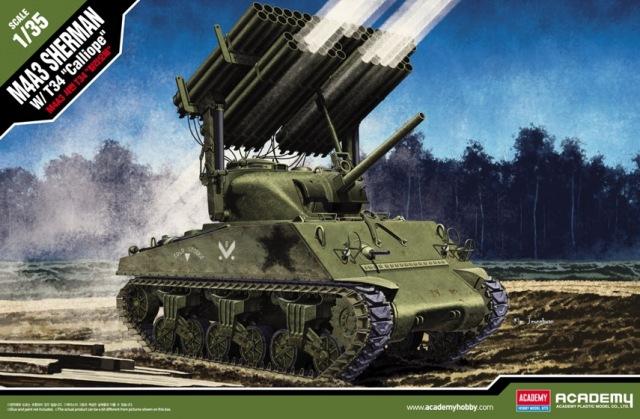 Американский танк M4A3 Sherman ''Calliope'' Academy 13294