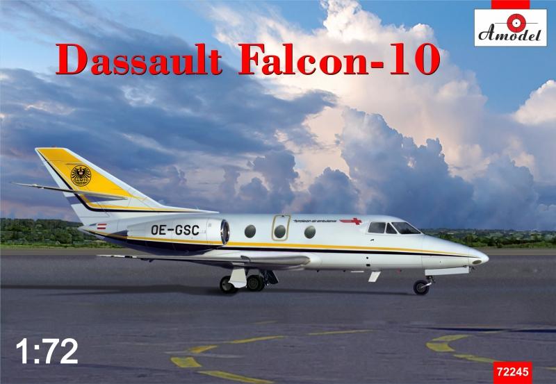 Самолет Dassault Falcon-10 Amodel 72245