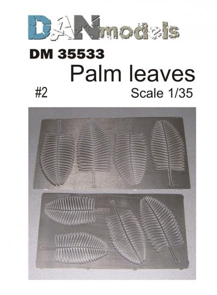 Фототравление: Листья пальмы №2 DAN models 35533