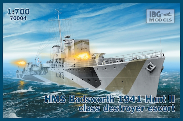 Эскортный миноносец ''HMS Badsworth'', 1941 IBG Models 70004
