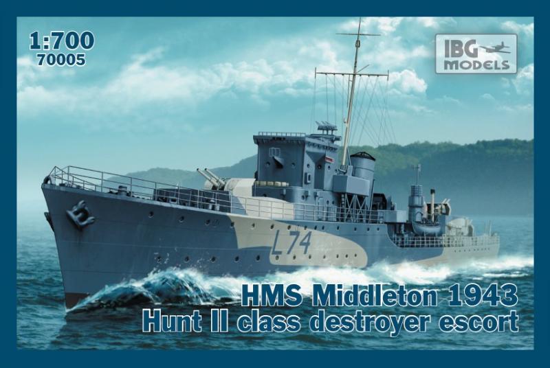 Эскортный корабль ''HMS Middleton'', 1943 г. IBG Models 70005