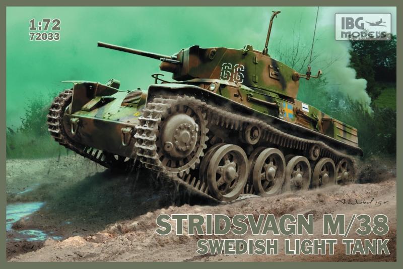 Шведский легкий танк Stridsvagn M/38 IBG Models 72033