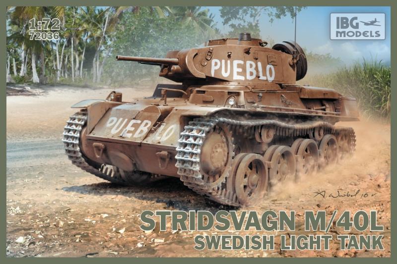 Шведский легкий танк Stridsvagn M/40L IBG Models 72036
