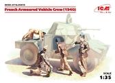 Французский экипаж бронеавтомобиля, 1940 г.