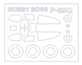 Маска для модели самолета Bell P-39Q (Hobby Boss)