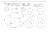 Маска для модели самолета Hawker Typhoon Mk.IB (Airfix)