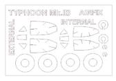 Маска для модели самолета Hawker Typhoon Mk.IB, двусторонняя (Airfix)