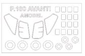 Маска для модели самолета Piaggio P.180 Avanti (Amodel)