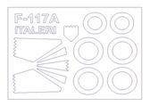 Маска для модели самолета Lockheed F-117A Nighthawk (Italeri)