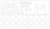 Маска для модели самолета BAe Nimrod (Airfix)