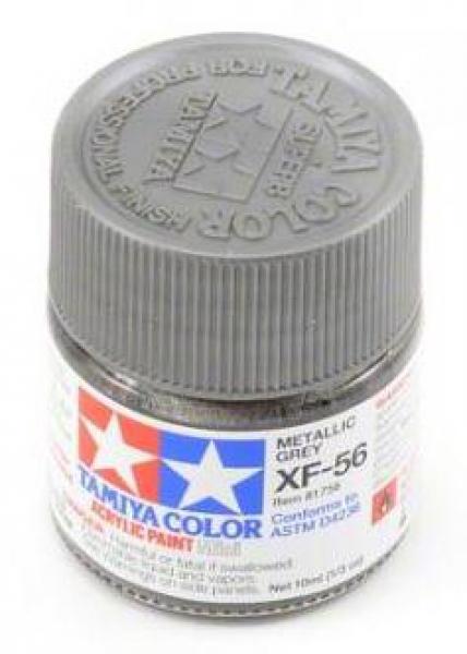 Акриловая краска Mini XF-56, серый металлик Tamiya 81756