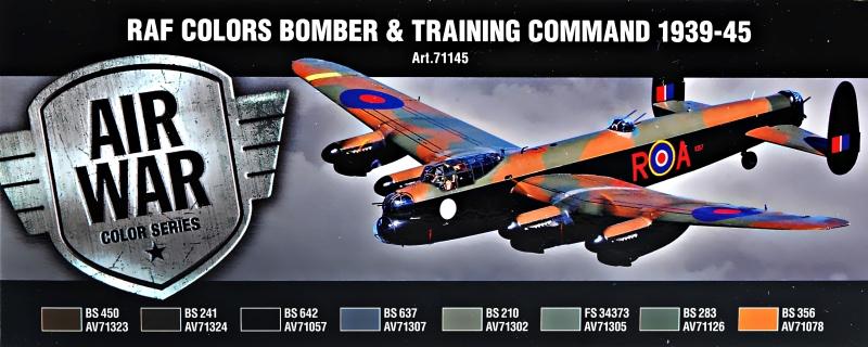 Набор красок ''Model Air'' RAF Цвета бомбардировщиков & Training Air Command, 1939-1945 г. Vallejo 71145