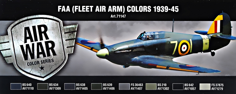 Набор красок ''Model Air'' FAA (Fleet Air Arm) Colors 1939-1945 г., 8 шт Vallejo 71147