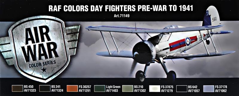 Набор красок ''Model Air'' RAF ''День довоенных истребителей'', 1941 г., 8 шт Vallejo 71149