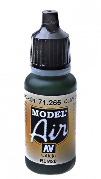 Краска акриловая ''Model Air'' оливково-зеленый RLM80 Vallejo 71265