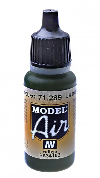 Краска акриловая ''Model Air'' американский темно-зеленый Vallejo 71289