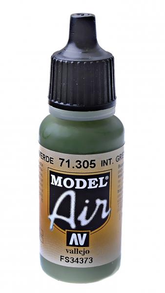 Краска акриловая ''Model Air'' интерьерный серо-зеленый Vallejo 71305