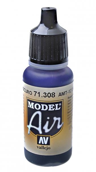 Краска акриловая ''Model Air'' АМТ-12 темно-серый Vallejo 71308
