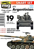 Набор акриловых красок AMMO A-MIG-7167: Цвета бронетехники Аргентины